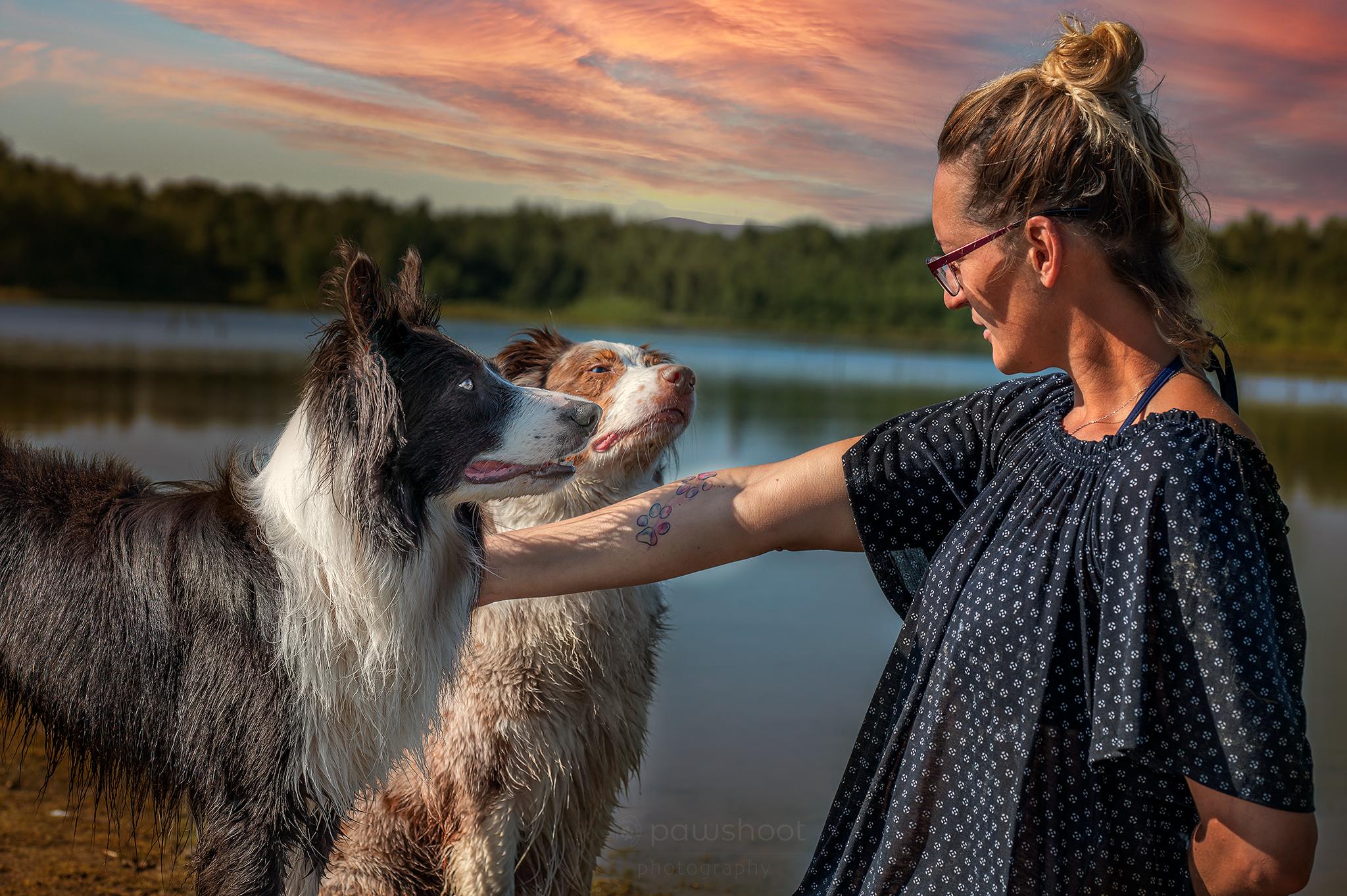 Pawshoot hondenfotografie mens en dier